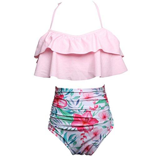 Da Costume a Spiaggia Alta Retro Bikini Rosa Bambini Set Donne Da Bagno Pezzi Per 1 Di 2 Lihaer Bikini Vita 4COPqxw4B7