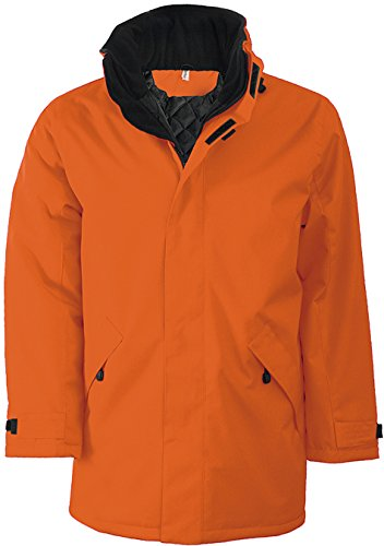 Black Kariban Jacket Padded Cappotto Uomo Orange Parka rRHRna
