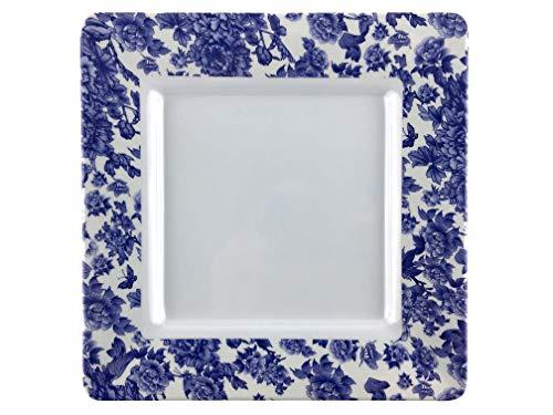 Melamine dinnerware, Square Plate set of 6, ARC USA, 100% Melamine, FDA Safe, Elegant, Heavy Duty, 10.5