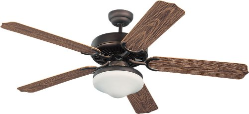 - Monte Carlo 5WF52RBD-L, Weatherford Deluxe Outdoor Ceiling Fan with Light, 52'', Roman Bronze