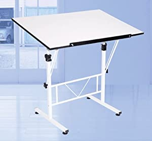 Amazon Com Art Drawing Craft Table White Tilt And