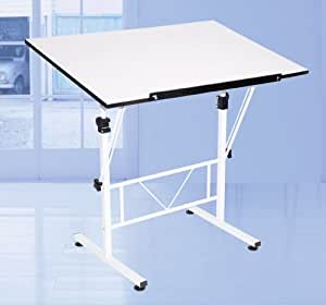 Art Drawing Craft Table White Tilt And Height Adjustable
