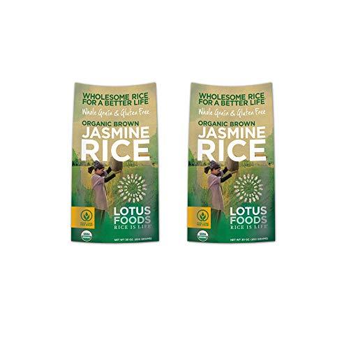 Lotus Foods Organic Heirloom Brown Jasmine Rice, 30 Ounce, 2 Count