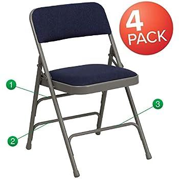 Amazon Com Giantex 6 Pack Folding Chair With Handle Hole
