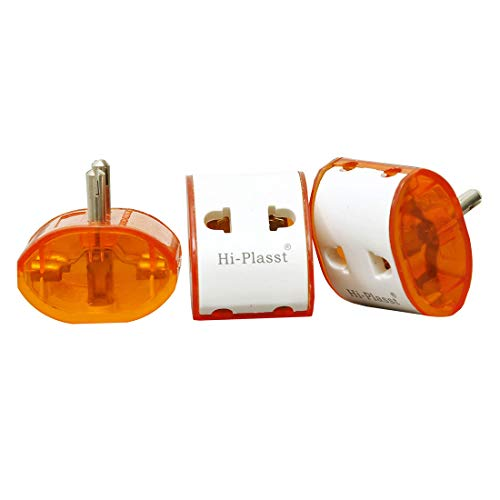 Hi PLASST 2 PIN Universal Travel MULTIPLUG Worldwide ADAPTOR 5pcs/10pcs Plug Two Pin Plug  White   2