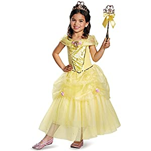 Disguise Belle Deluxe Disney Princess Beauty & The Beast Costume - 41ZtdT7KK3L - Disguise Belle Deluxe Disney Princess Beauty & The Beast Costume