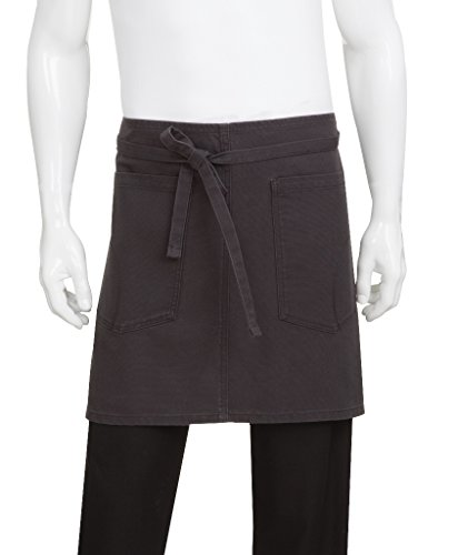 (Chef Works Unisex Rockford Half Bistro Apron, Steel Gray, 0 )