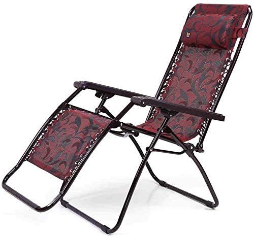 Silla plegable plegable Chair Rocking Chair cero gravedad terraza al aire libre camping playa soporte 210 kg Liting
