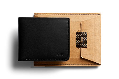 slim wallet Max 12 flat Black Bellroy Square and bills cards Wallet leather TnOpw