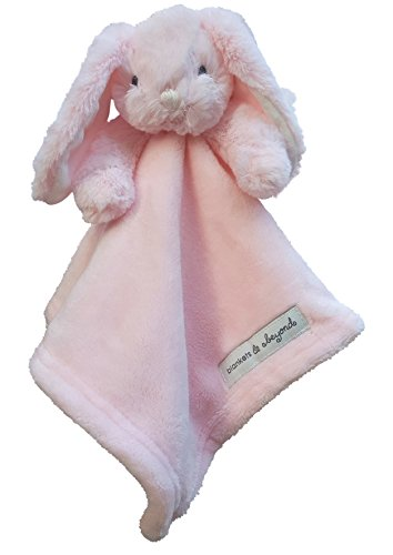 - Blankets & Beyond Minky Bunny Security Blanket - Solid Pink