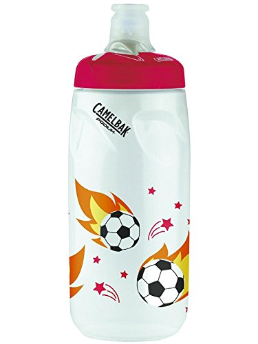 610ml Soccer Flames Camelbak Podium Children's Bottle