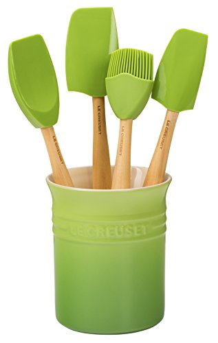 - Le Creuset of America Craft Series 5Piece Utensil Set with Crock - Palm