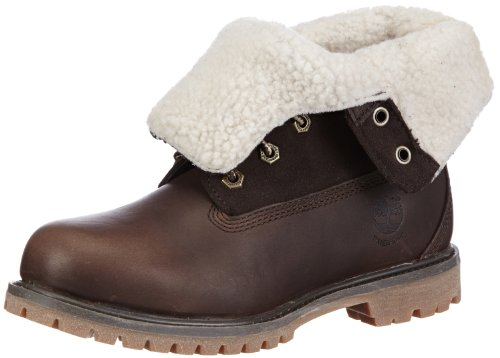 Timberland Women's Teddy Fleece Fold-Down WP Ankle Boot