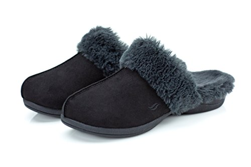 Black Slippers Luxe Women's Black Powerstep H8vwqRfxv