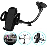 Windshield Phone Mount, Volport Universal Windscreen Dashboard Long Arm Window Car Cradle Suction Cup Phone Holder Stand for iPhone Xs Max XR X 8 8 Plus 7 6 6S Samsung Galaxy J7 S9 S8 S7 Google Pixel