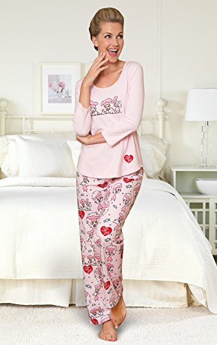 PajamaGram Exclusively Licensed: I Love Lucy PJs for Women, Pink, LRG (12-14) by PajamaGram (Image #3)