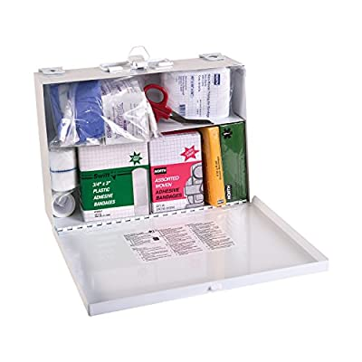 DMI Basic First Aid Kit, 25 Person, Metal, White by DMI