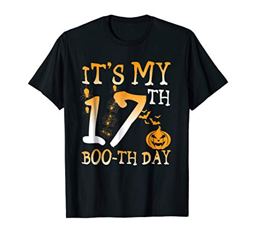 It'S My 17Th Boo-Th Day Birthday Shirt Halloween 17 Year Old for $<!--$16.99-->