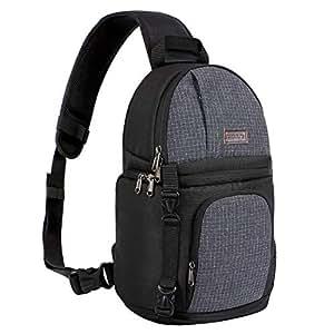 Amazon.com: MOSISO - Bolsa bandolera para cámara, DSLR/SLR ...