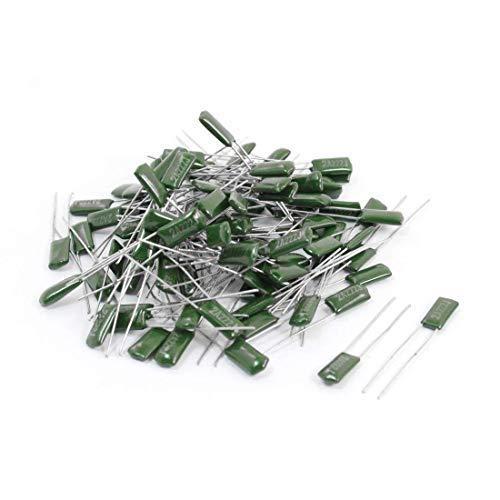 Yohii 200pcs 2.2nF AC 100V Radial Lead Polyester Film Mylar Capacitors