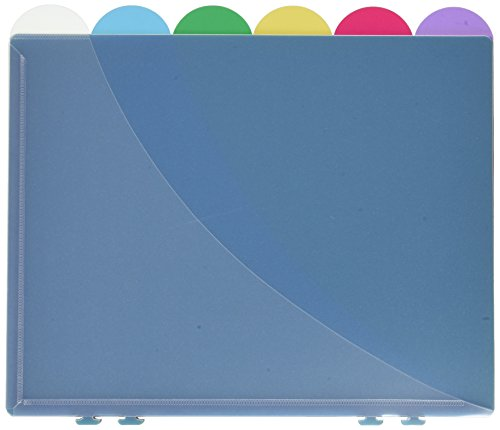 Ampad Notebook Organizer, Assorted Colors, 11.12 x 5.62, Poly, With Scallop Tabs, 6 per Pack (15720)