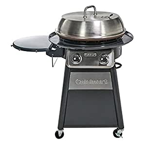 Cuisinart CGG-888 Grill Stainless Steel Lid 22-Inch Round Outdoor Flat Top Gas Griddle Cooking Center, Gray