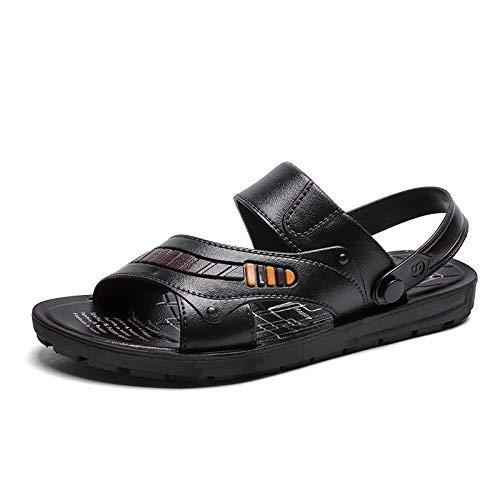 JEAQW home Pantoufles d'été Sandales légères antidérapantes pour hommes Pantoufles un glissement pour hommes Casual Sandales et pantoufles à double usage Chaussures de plage pour le voyage en plein ai