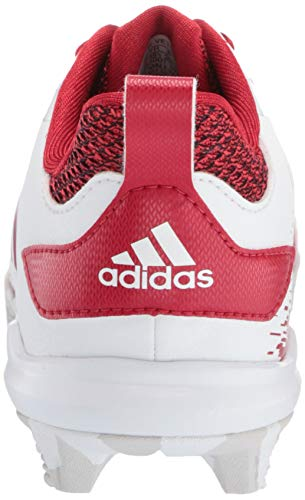 adidas Adizero Afterburner V Baseball Shoe White/Power red/Grey 5 M US Big Kid by adidas (Image #2)