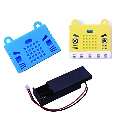 Board Protective Silicone Cover - WIshioT BBC Micro:bit Silicon Protective Case Cover AAA Cell Battery Holder Box Case BBC Micro:bit Board Kids Education