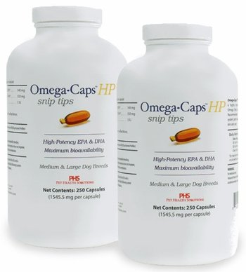 Omega-Caps HP Snip Tips for Medium & Large Breeds (500 Caps) by Omega