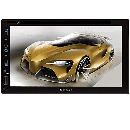 "DVD 2 Din Full Touch Tela de 7"", E-Tech Imports, Car_Audio_Or_Theater, Prata, Padrão Japonês"