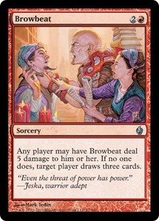 Magic The Gathering - Browbeat - Premium Deck Series Fire & Lightning - Foil from Magic The Gathering