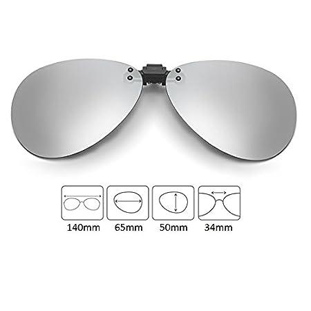 specchio flash lenti Cyxus Aviator a clip polarizzate classico a XqxOS