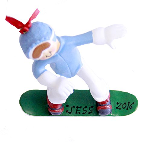 Personalized Snowboarder Female Christmas Ornament 2019 (Best Female Snowboarder 2019)