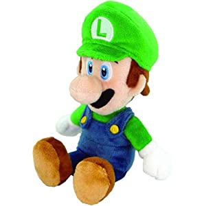 """Nintendo Official Super Mario Luigi Plush, 8"""""""