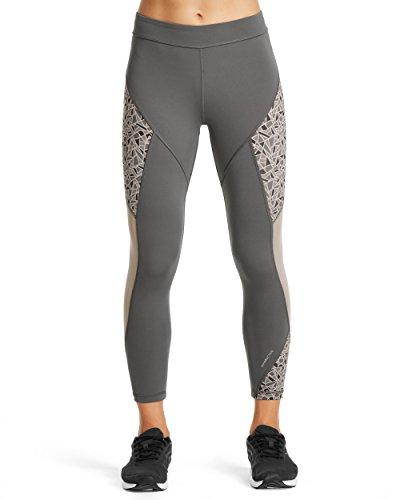 (Mission Women's VaporActive Radiate Cropped Yoga Leggings, Iron Gate/Paloma Ice,)