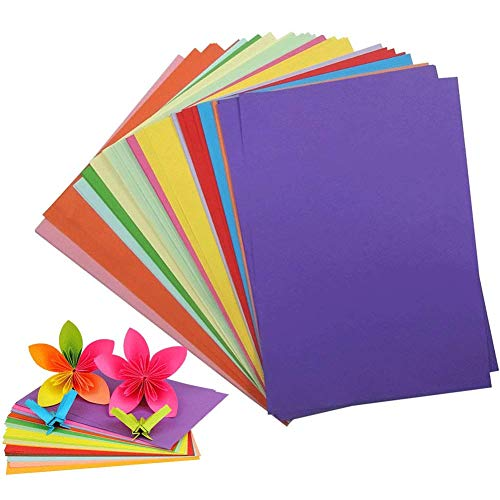 (Color Copy Paper, Handmade Folding Paper Craft Origami Premium Quality Craft paper for Arts and Crafts, 200 Sheets)