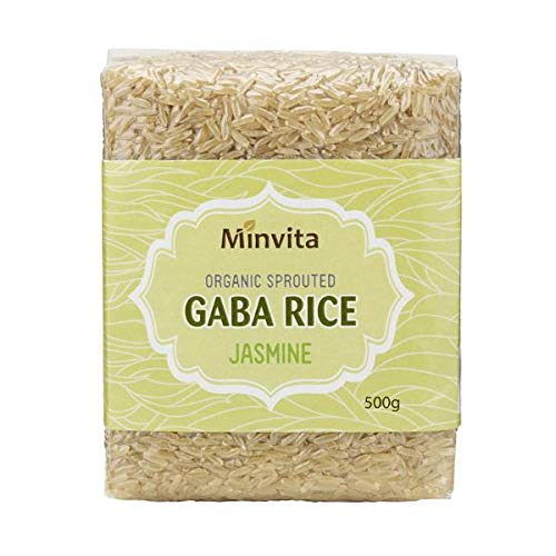 Minvita - Organic Sprouted Gaba Rice - Jasmine-Green - - Sprouted Brown Rice Gaba