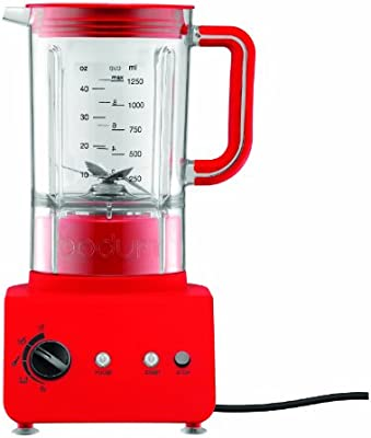 Bodum BISTRO - Licuadora (1,25 L, Batidora de vaso, Rojo, 1,1 m ...