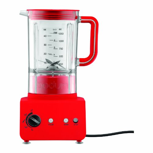 Bodum 11303-294US Bistro 5-Speed Electric Blender, 42-Ounce, Red