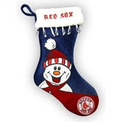 Topperscot Boston Red Sox Snowman Stocking - Boston Red Sox Christmas Stocking