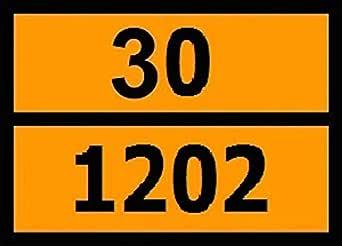 Panel naranja Adr con numeración para el transporte de