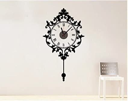 Graz Design Reloj de pared clásico reloj de pared para pared con adhesivo decorativo con reloj