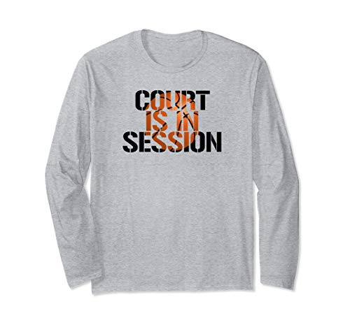 Court is in Session Basketball team & player long-sleeve tee