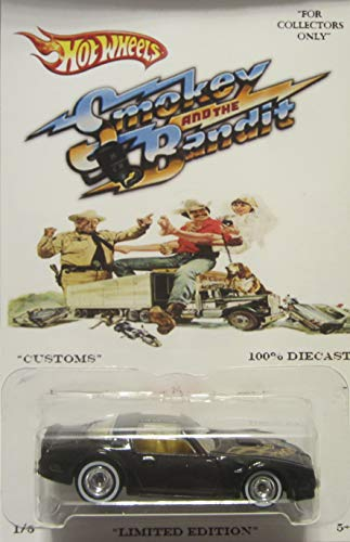 Hot Wheels Custom '77 Pontiac Firebird T/A Smokey The Bandit Real Riders Rubber Wheels Collectible Die Cast Model Car 1:64 Scale Limited Edition 1/5 Made!