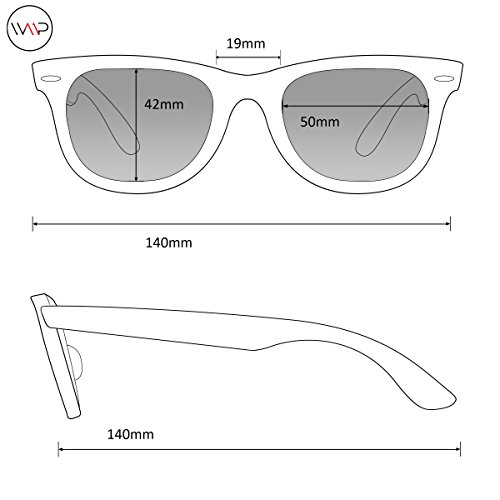 Classic Polarized Horn Rimmed Sunglasses Black