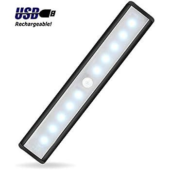 wireless led under cabinet lighting closet lights balfer motion sensor activated night light. Black Bedroom Furniture Sets. Home Design Ideas