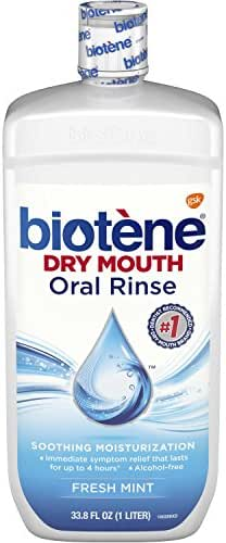 Biotene Fresh Mint Moisturizing Oral Rinse Mouthwash, Alcohol-Free, for Dry Mouth