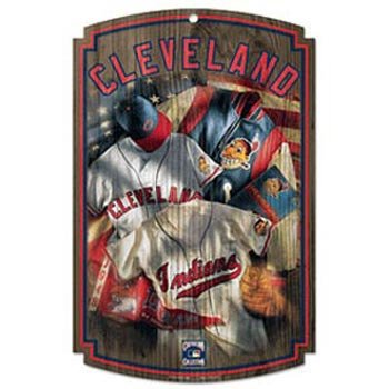 Wincraft MLB Cleveland Indians 70781091 Wood Sign, 11