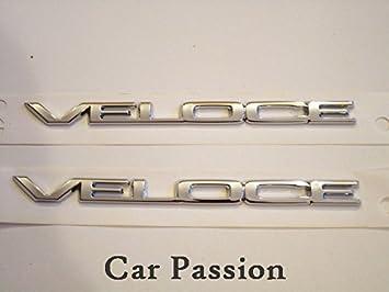 2 Logo Zeichen Mit Dem Original Schriftzug Veloce Auto